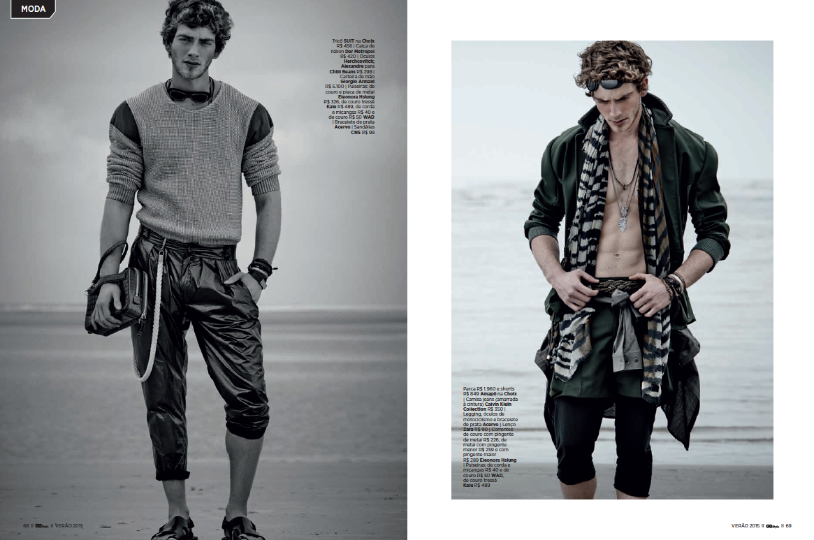 Eric Carvalho Is In An Adventurous Mood For Gq Style Brazil Designs Fever
