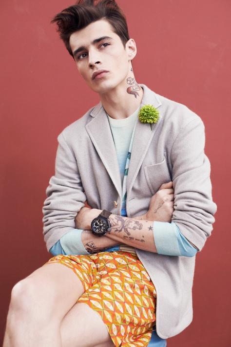 Adrien Sahores Poses for Apropos Spring/Summer 2015