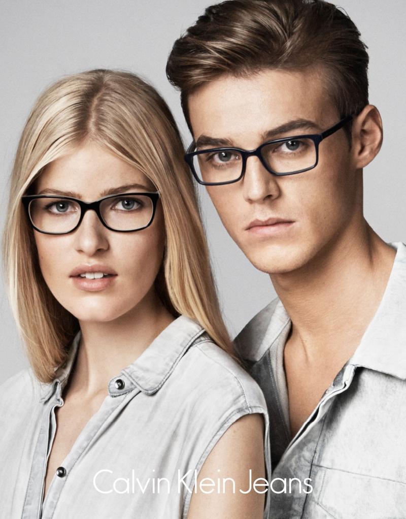 Frame glasses calvin klein - Robbie Wadge Calvin Klein Jeans Ss 2015 Eyewear