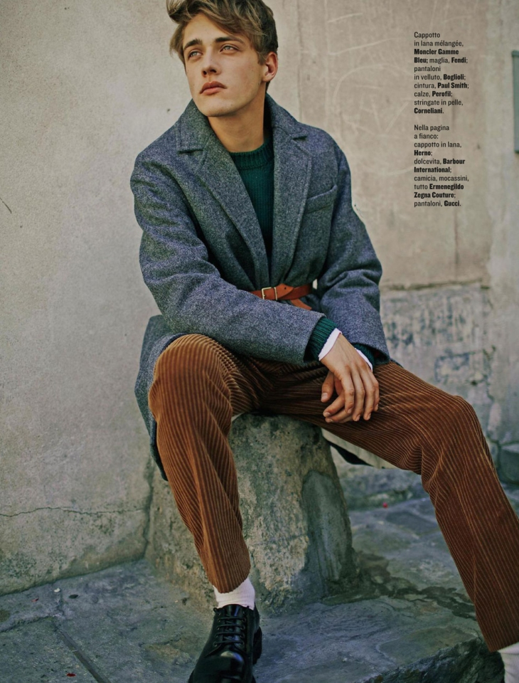 Billy vandendooren is a parisian boy for style magazine Fashion style october 2015