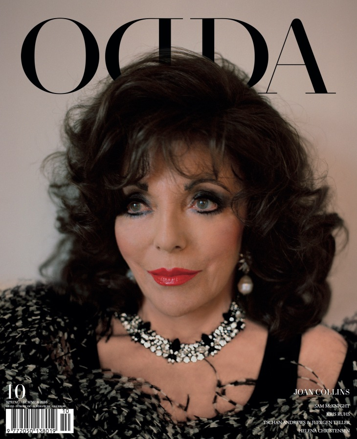 Joan Collins photographed by Tom Johnson and styled by Patricia Villirillo