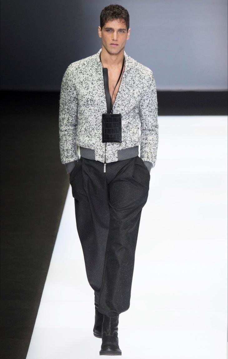 Fabio Mancini on the runway of Emporio Armani Fall/Winter 2016 Womenswear Fashion Show