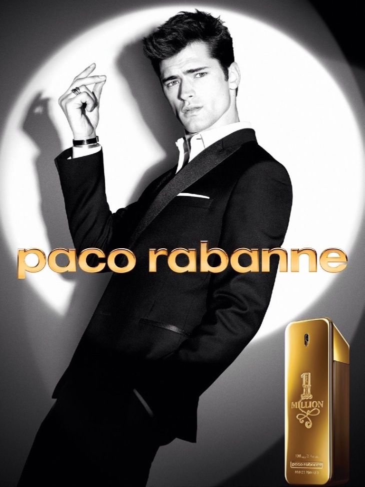 Sean O'Pry photographed for Paco Rabanne 1 Million Campaign